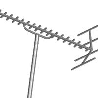 屋外のアンテナ修理