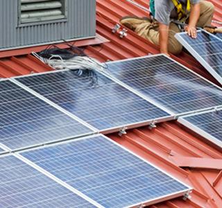 太陽光発電の工事